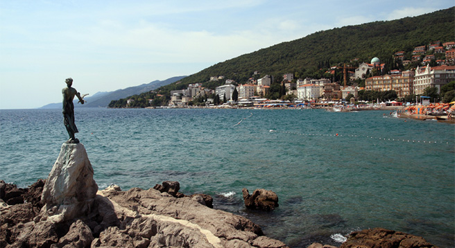 Opatija offers stunning vistas, great architecture and coffee houses well worth a visit. Not far from Rabac, it is great day trip.