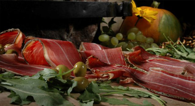 Local delicacy is typical Istrian prosciutto. Ask local prosciutto producer to cut it by hand for you.